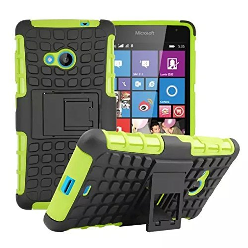 new concept a4845 90aa9 Lumia 535 Case Cavor Heavy Duty Armor Hybrid [Dual Layer] KIickstand Back  Holster Shockproof Cover Protecive Case for Microsoft Nokia Lumia 535 ...