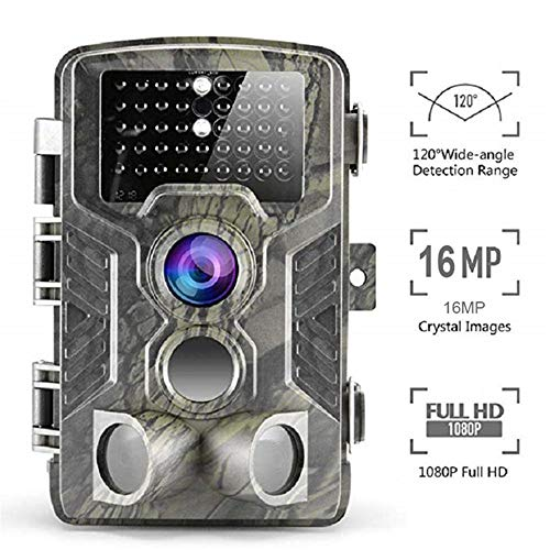QUARKJK Wildlife Camera 16MP 1080P Trail Game Camera Motion Activated Infrared Night Vision with 2.0
