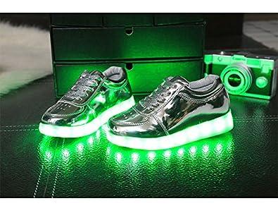 Gaorui Scarpe con Luci LED per bambini Sportive 7 Colori Ricaricabili Sneakers by