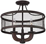 Frankton Industrial 16'' Wide Bronze Ceiling Light