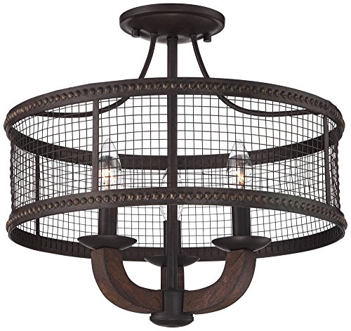 Lamps Plus Round Chandelier - Frankton Industrial 16