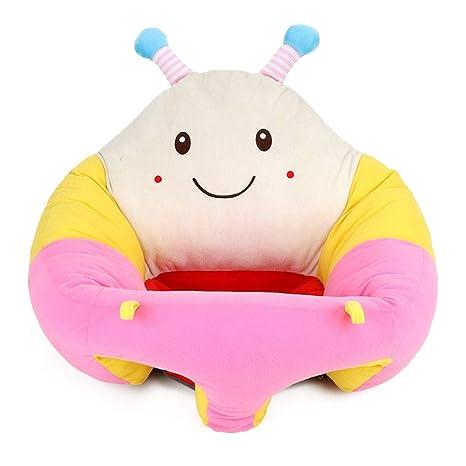 Soporte para bebé Asiento Suave Felpa Sofá de Dibujos Animados Infantil Sillón de Aprendizaje Silla de Felpa Cojín Juguetes Asiento