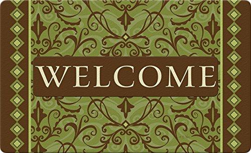 (Toland Home Garden 830340 Welcome Damask- Green 18