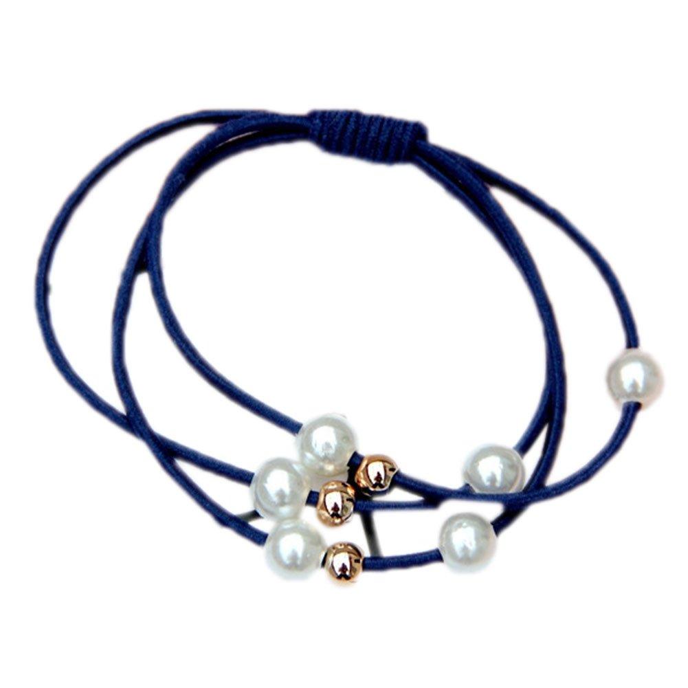 Cosanter   Elastico per capelli con perle (5 pezzi) 5 x 0.3cm 1