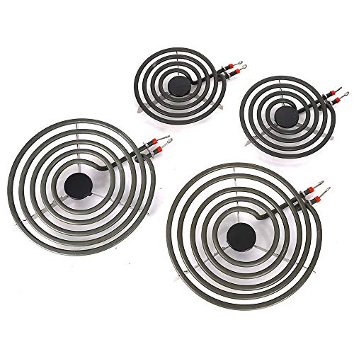 Pack of 4 MP22YA Electric Range Burner Element Unit Set- 2 pcs MP15YA 6