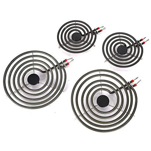 Pack of 4 MP22YA Electric Range Burner Element Unit Set- 2 pcs MP15YA 6