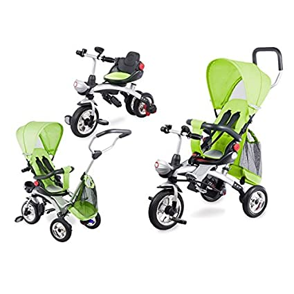 Triciclo infantil escalable 4 en 1 Tim de lionelo – disponible en 3 colores verde verde