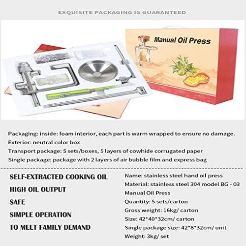 PFSYR De Mano de Acero Inoxidable manivela Prensa de Aceite, doméstica pequeña Prensa de Aceite Aceite expulsor Extractor de Aceite, Aceite de Oliva El Aceite de Cacahuete máquina de prensado: Amazon.es: Hogar