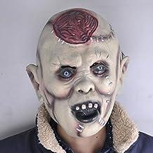 Bazaar Halloween Masks Scary Headgear Bar Decorated Props Super Horror Mask Lantou Burst Brain