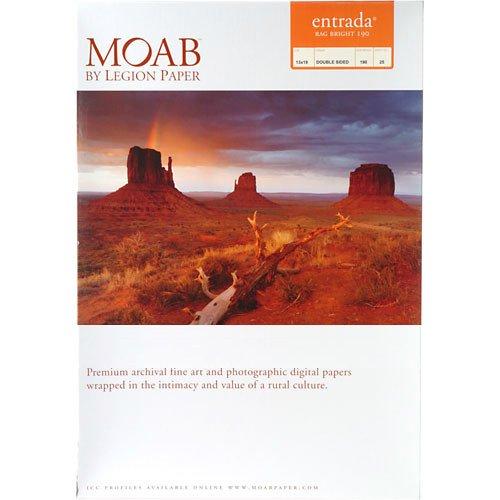 Moab White Inkjet Paper - Moab Entrada Rag Bright 190gsm 13