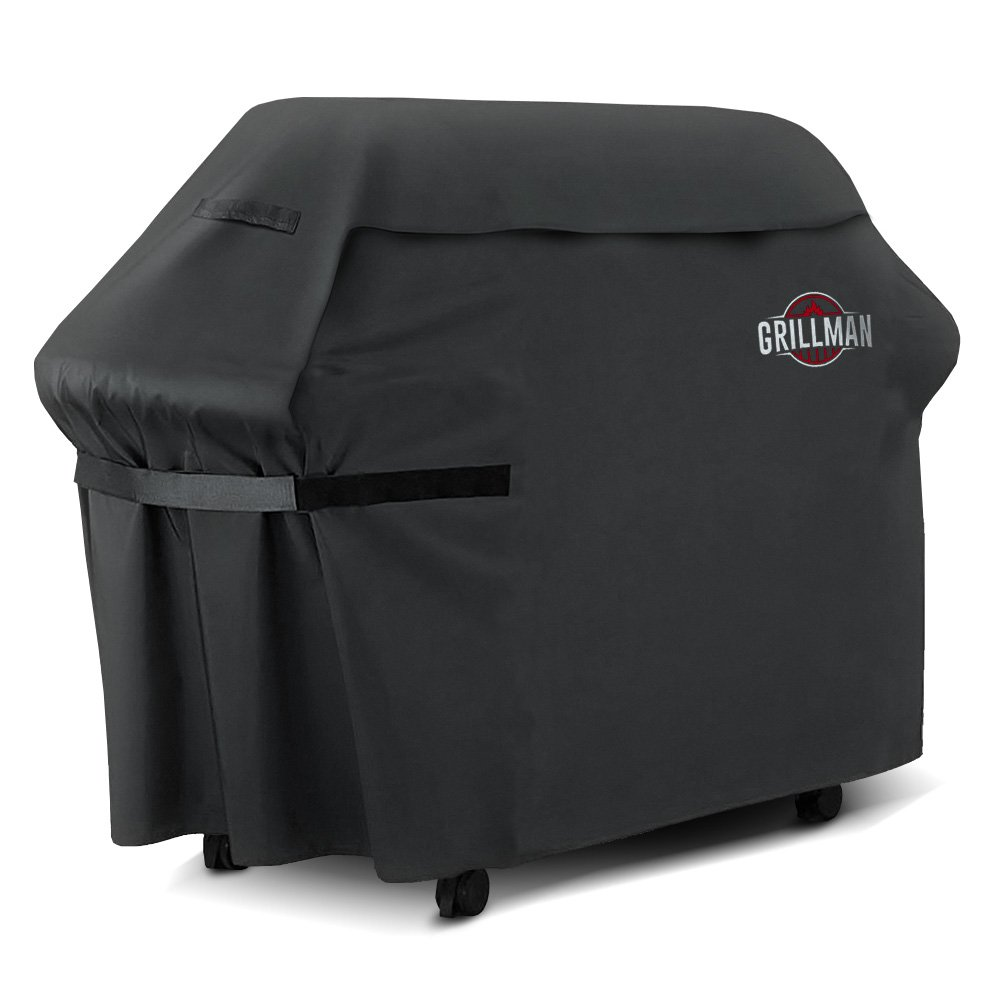 Grillman Premium BBQ Grill Cover, Heavy-Duty Gas Grill Cover for Weber, Brinkmann, Char Broil etc. Rip-Proof, UV Resistant & Waterproof
