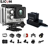 SJCAM SJ7 Star Kit {Including SJ7 Camera with Accessories & Dual Slot Battery Charger} 4K@30FPS Ambarella A12 Chipset/2'' TouchScreen/Sony Sensor /Gyro Stabilization,Waterproof Underwater Camera-Silver