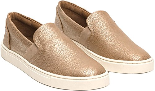 FRYE Frauen IVY Slip Fashion Sneaker Gold Metallic Vollkorn