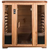 SaunaMed 4 Person Luxury Cedar FAR Infrared Sauna EMR Neutral