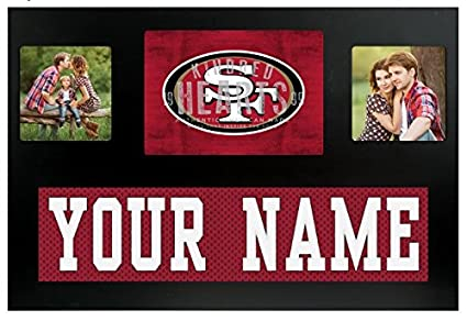 895ad4e79 Image Unavailable. Image not available for. Color  San Francisco 49ers NFL Custom  Jersey Nameplate and Logo Picture Frame