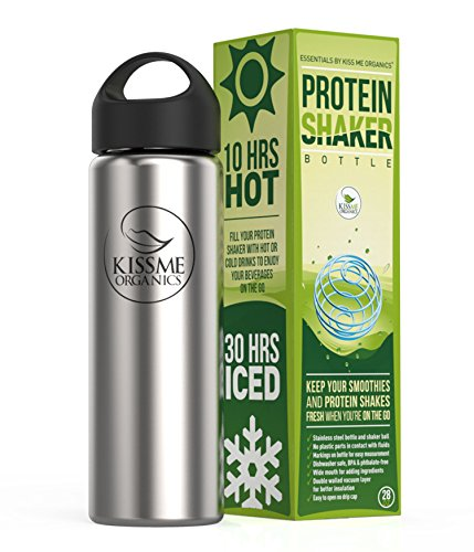 Protein Shaker Bottle Stainless stainless product image