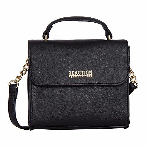 Kenneth Cole Reaction KN1970 Trickster Mini Crossbody Messenger Shoulder Bag (BLACK)