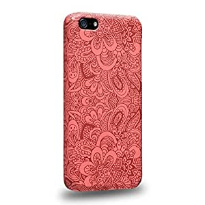 Diy iphone 5 5s case The most popular Art Salmon Pink Doodle Doilies Pattern Protective Snap-on Hard Back Case Cover for Apple iPhone 5 5S