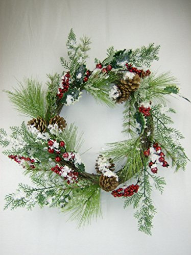 Christmas Pine, Holly, and Berry Holiday Greenery CHOICE OF 24