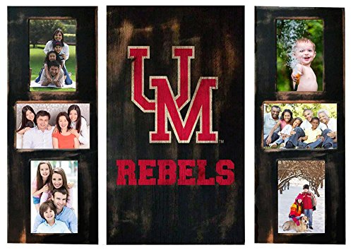 (Ole Miss Rebels Photo Frame Set 3pc Wooden Picture)