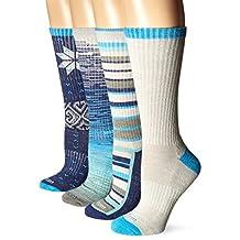 Wool IQ Women's Merino Wool Trail Crew Sock 4-pack