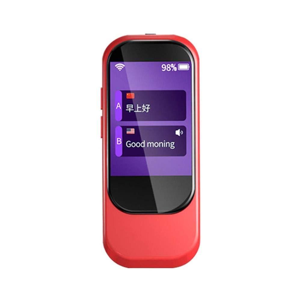 """電子翻訳、WiFiが付いているスマートな2方向音声翻訳装置2.4""""IPSの容量性タッチ画面、サポート21の相違外国語 (色 : 赤)  赤 B07QG7PX97"""