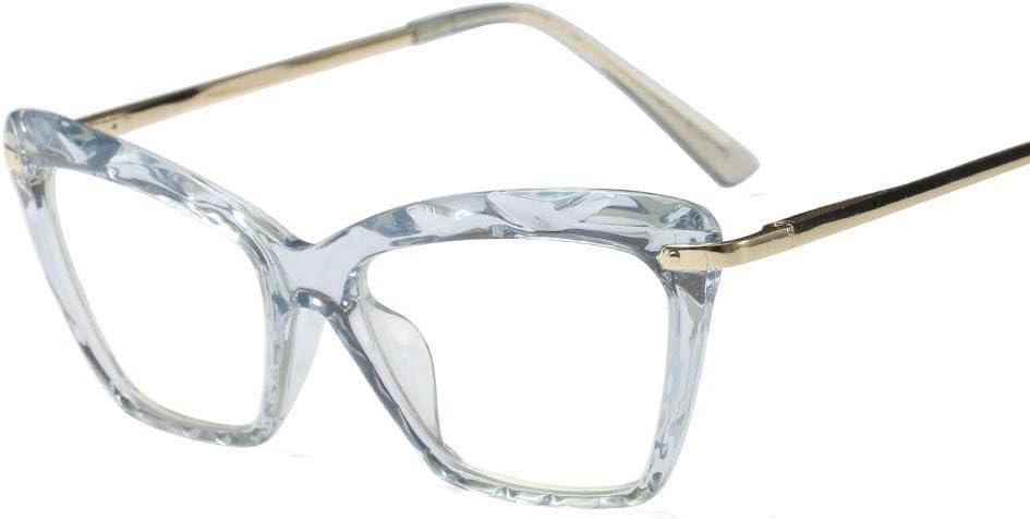 Colore : Rosa Occhiali con Lenti Trasparenti BAACHANG Montatura per Occhiali da Vista in Cristallo Tondo Vintage Multi-Taglio da Donna