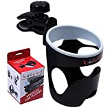 kiddie kid Stroller Cup Holder - Universal - Fits Most Strollers - Wheelchairs - Rollators - Walkers - Bicycles - Perfect For Baby Bottles & Smaller Cups