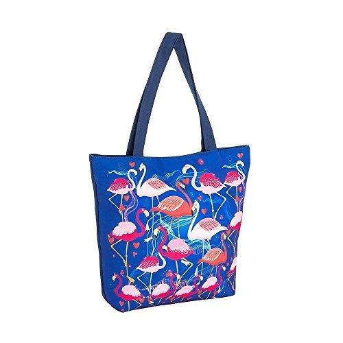 imprimé Épaule Bleu bohème NEUF Flamingo Large et tribal rose patchwork plage femme hippie Plume toile SEQUIN Bandoulière bleu pour de Sac bohémien xFBwFPqY