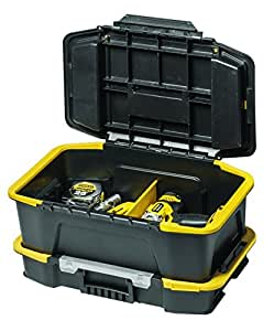 Stanley STST1-71962 - Combinación de caja para herramientas y organizador, color negro