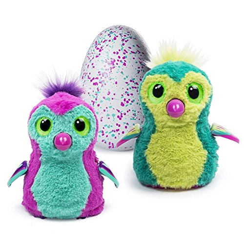 Hatchimals - Hatching Egg Interactive Creature, Penguala - Pink/Teal Egg by Spin Master