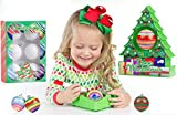 TreeMendous Christmas Tree Ornament Decorating Kit for Kids ages 6+ | Includes 9 Ornaments | Top Rated Craft Activity Game, Holiday Toy DIY Ornament Maker |Ornament Base Kit & Refill Bundle