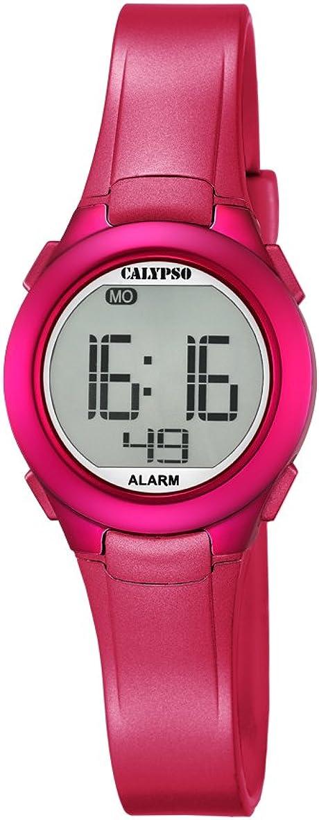 Calypso K5677/4 - Reloj de Pulsera Unisex, Plástico, Color Rosa
