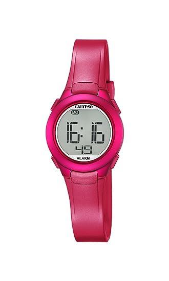 Calypso K5677/4 - Reloj de Pulsera Unisex, Plástico, Color Rosa: Amazon.es: Relojes