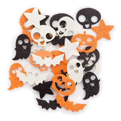 Darice- 60 Sparkly Halloween Icons Foam Peel Off Stickers~Arts & -