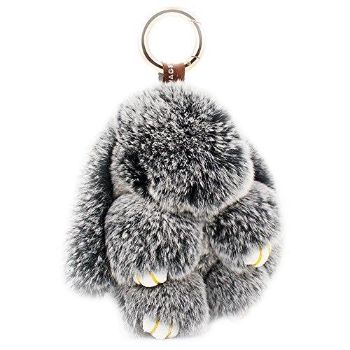 Amazon #LightningDeal 73% claimed: Ysiop Plush Bunny Car Keychain Rabbit Fur Doll Key Chain Bag Decorate Accessory Fob