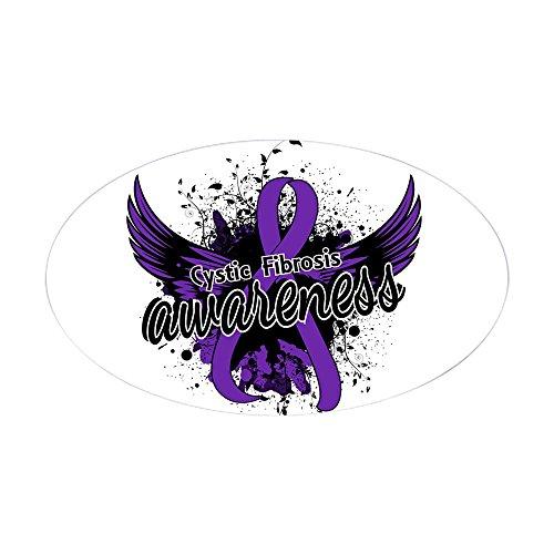 (CafePress Cystic Fibrosis Awareness 16 Oval Bumper Sticker, Euro Oval Car)