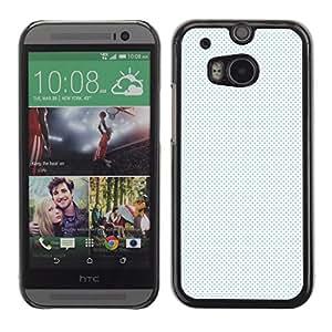 HTC One M8 , Radio-Star - Cáscara Funda Case Caso De Plástico (White Dots Pattern)