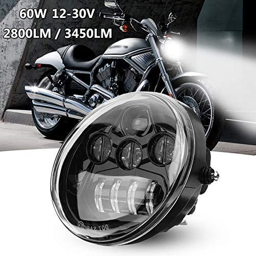 LED faro Daymaker Harley Davidson V-Rod VROD VRSC VRSCA VRSCDX (02-16) Nero SUPAREE