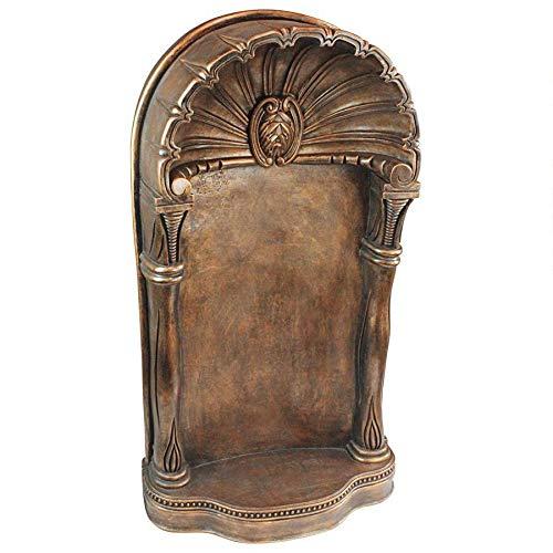 Design Toscano Poli Palace Classic Architectural Wall Niche Display Shelf, 37 Inch, Faux Bronze