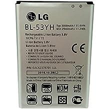 Original 3000mah 3.8v LG Battery BL-53YH BL53YH EAC6237870 for LG G3 LS990 OPTIMUS G3 D851 in Non-Retail pack