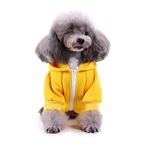 feiledi Trade Cremallera Encapuchada Ropa para Mascotas Perro Gato Ropa Linda Ropa para Mascotas Cálido Encapuchado