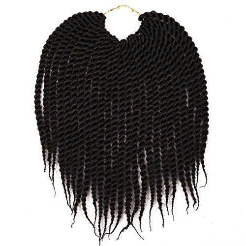 Micro Crochet Braids Kids (1 Pack) Crochet Twist Synthetic Hair Extension 10 inch Senegalese Mambo Twist (1B) ()
