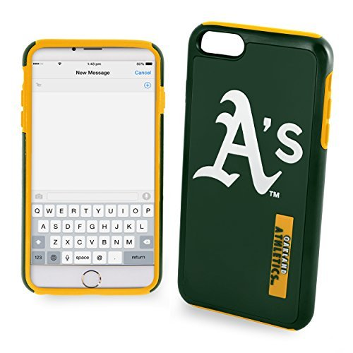 (Forever Collectibles Oakland Athletics Impact Dual Hybrid iPhone 6 Plus Cover - TPU (2 Piece Case) )