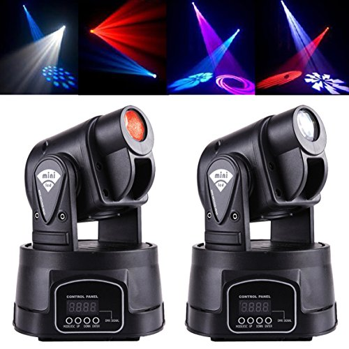 MountainNet 2 X New 15W 13CH LED DMX Mini RGB Club DJ Stage Lighting Party Moving Head