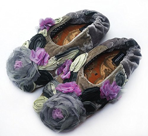 Silk Goody Goody New Bon Millefleur Bon Grey Comfy Slippers w6Xf7xXq