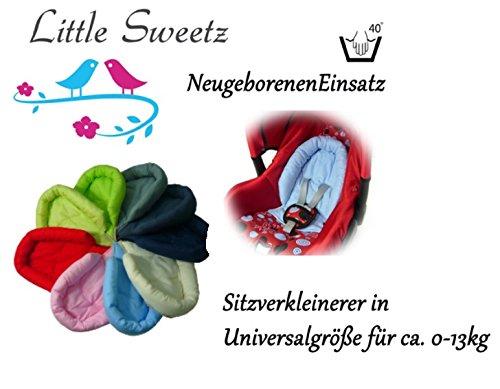 Little Sweetz ** COSY SOFT ** Sitzverkleinerer / NeugeborenenEinsatz für BabyAutositz Gr. 0/0+ wie z.B. Maxi Cosi, Römer etc. (Hellblau) Römer etc. (Hellblau)