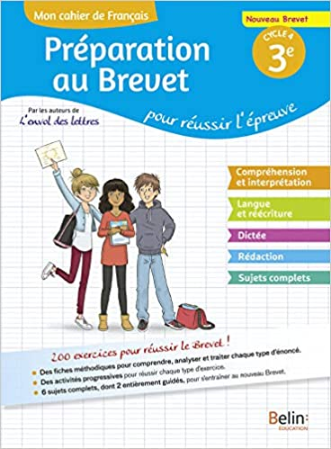 Amazon Fr Mon Cahier De Francais 3e Preparation Au