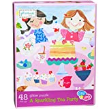 C.R. Gibson Gibby & Libby A Sparkling Tea Party Glitter Puzzle (48 Piece)