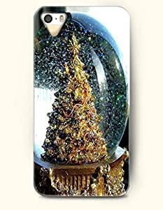 OOFIT iPhone 5 5s Case - Merry Christmas Xmas Tree In Crystal Ball